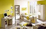 Jugendzimmer Wiki Eiche Sonoma Weiss 4 TLG Komplett Set Kinderzimmer Jugendmöbel