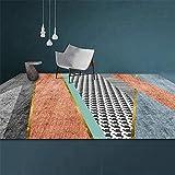 Kunsen Teppich rund kinderzimmer Schlafzimmer Teppich Wohnzimmer Studie Dekoration Rechteck grau orange modern jugendzimmer komplett Set teppichmatte 50X80CM 1ft 7.7' X2ft 7.5'