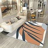 Kunsen jugendzimmer komplett Set Wohnzimmer Teppich orange weiß modern Umweltschutz weich flickenteppich waschbar kinderzimmer Teppich 60X90CM 1ft 11.6' X2ft 11.4'