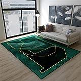 Kunsen jugendzimmer komplett Set Grüner rechteckiger Teppich Wohnzimmerdekoration, verschleißfest und Nicht verblassend bürostuhl unterlage Teppich teppiche Wohnzimmer 40X60CM 1ft 3.7' X1ft 11.6'