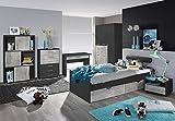 lifestyle4living Jugendzimmer, komplett, Set, Jungen, Mächen, Jugendzimmermöbel, Kinderzimmer, Kinderzimmermöbel, Jugendmöbel, Rauch, Kindermöbel, Kleiderschrank, Bett