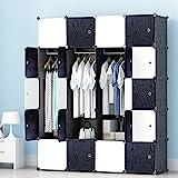 PREMAG Regalsystem Kleiderschrank für hängende Kleidung, Kombischrank, modularer Schrank für platzsparende, ideale Aufbewahrung Organizer Cube für Bücher, Spielzeug, Handtücher(20-Würfel)