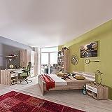 Komplett Kinderzimmer Set San Remo Eiche Jugendzimmer Jugendbett Kleiderschrank