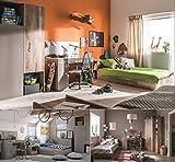 Jugendzimmer Kinderzimmer komplett KARIBIK Set A Schrank Bett 90x200 mit Schublade Schreibtisch NEU