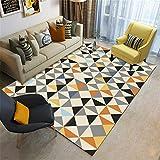 Kunsen jugendzimmer komplett Set Wohnzimmer rechteckiger Teppich beige grau orange feuchtigkeitsbeständig und rutschfest Area Rug kinderzimmer Teppich 180X280CM 5ft 10.9' X9ft 2.2'