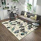 Kunsen jugendzimmer komplett Set Grünes Pflanzenmuster des beige Teppichs des Wohnzimmerteppichs bürostuhl unterlage Teppich teppiche Wohnzimmer 200X250CM 6ft 6.7' X8ft 2.4'